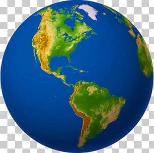 Earth Globe South America World Continent PNG