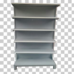 Shelf Gondola Bookcase Furniture Wall PNG