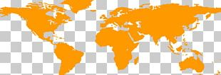 Globe World Map Wall Decal PNG