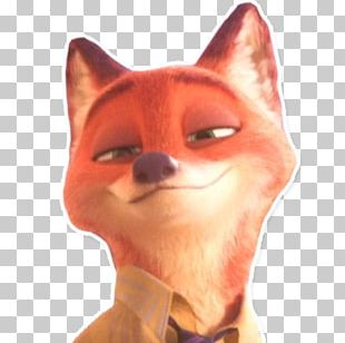 Whiskers Nick Wilde Telegram Sticker Messaging Apps PNG