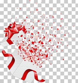 Gift Decorative Box Heart Valentines Day PNG