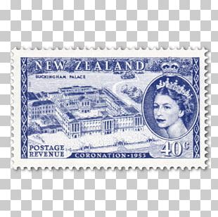 Postage Stamps Paper New Zealand Coronation Of Queen Elizabeth II Mail PNG