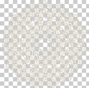 Place Mats Doily Circle Pattern PNG