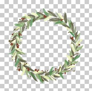 Wreath Christmas Watercolor Painting Garland PNG