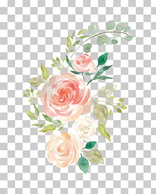 Watercolour Flowers Baby Bedding Watercolor Painting PNG