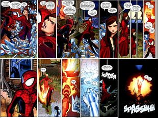 Spider-Man Kitty Pryde Human Torch Iceman Spider-Woman (Jessica Drew) PNG