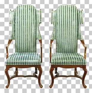 Wing Chair Table Furniture Upholstery PNG