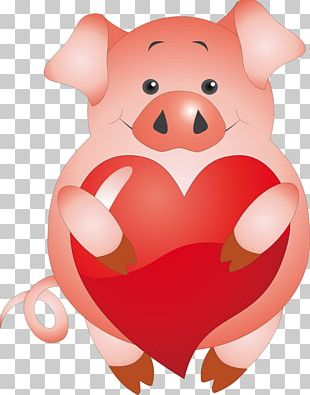 Miniature Pig Valentine's Day PNG