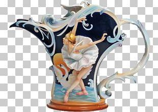 Franz-porcelains Ceramic Teapot Vase PNG