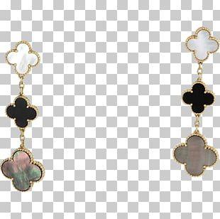 Pearl Earring Van Cleef & Arpels Gold Bracelet PNG