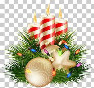 Christmas Candle Santa Claus PNG
