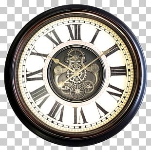 Clock Window Wall Gear Antique PNG