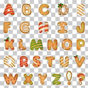 Santa Claus Christmas Cookie Alphabet PNG