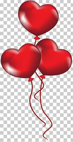 Gas Balloon Valentine's Day Heart PNG