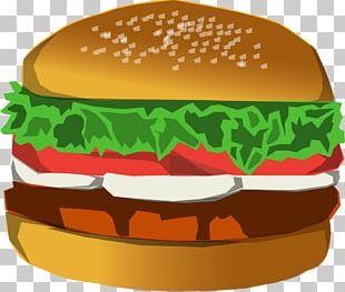 Hamburger Fast Food Cheeseburger Cinnamon Roll French Fries PNG