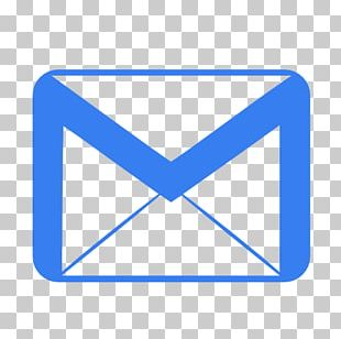 Blue Triangle Mail Area PNG