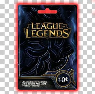 League Of Legends Gift Card Riot Games Video Game Playing Card PNG
