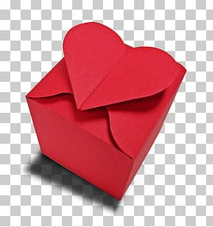 Paper Valentine's Day Origami Heart Red PNG