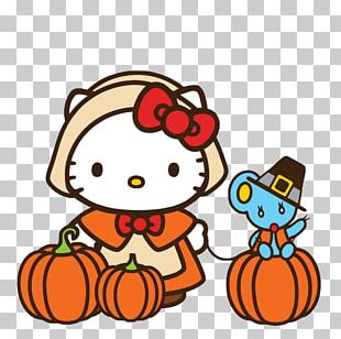 Hello Kitty Thanksgiving Cat PNG