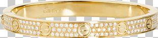 Love Bracelet Cartier Carat Diamond PNG