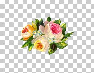 Flower Bouquet Cut Flowers Floral Design Garden Roses PNG