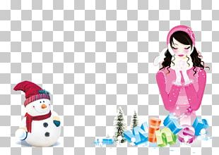 Snowman New Year's Day Christmas Poster PNG
