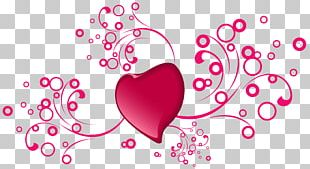Heart Pink Valentine's Day Petal Pattern PNG