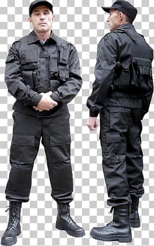 Military Uniform Police Security Guard Workwear PNG