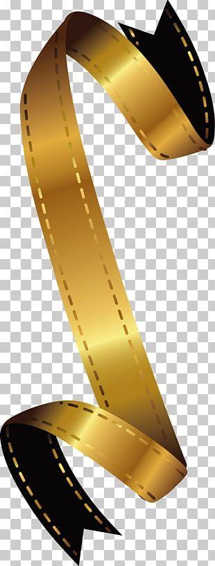 Gold Ribbon Design PNG