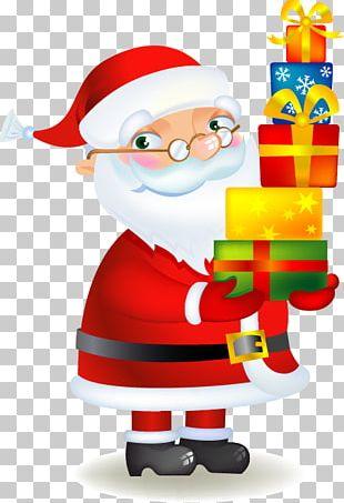 Santa Claus Christmas Stockings Gift Illustration PNG