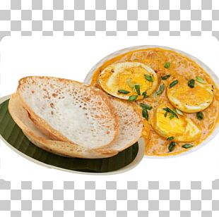 Appam Puri Indian Cuisine Breakfast Chicken Curry PNG