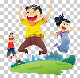 Child Jumping PNG