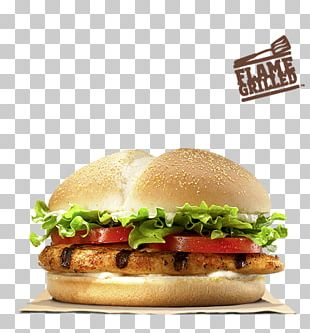 Burger King Grilled Chicken Sandwiches Hamburger Whopper Fast Food PNG