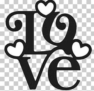 Valentine's Day Love Stencil Word Pattern PNG
