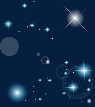 Aesthetic Star Effect Elements PNG