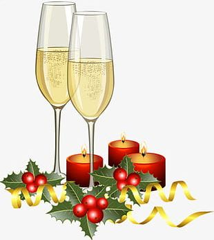 Christmas Champagne Small Creative PNG