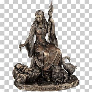 Loki Frigg Norse Mythology Goddess Statue PNG
