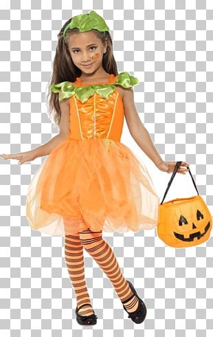 Toddler Pumpkin Fairy Costume Party Halloween Costume M PNG