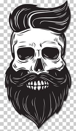 Beard Drawing Skull PNG