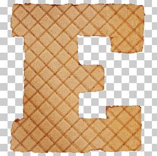 Ice Cream Waffle Pancake Font PNG