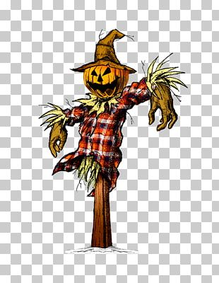 Halloween Costume Cartoon Scarecrow Drawing PNG