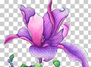 Violet Euclidean Flower PNG