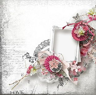 Decorative Flowers Frame PNG