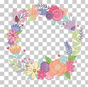Flower Wreath Watercolor Painting Drawing Party PNG
