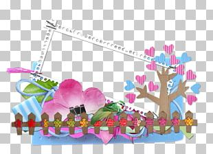 Border Text Floral PNG