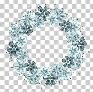 Turquoise Teal Body Jewellery Circle PNG