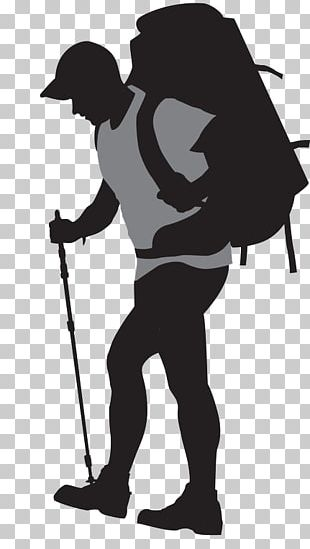 Backpacking Silhouette PNG