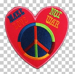 Embroidered Patch Appliqué Badge Make Love PNG