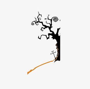 Halloween Horror Dark Trees PNG