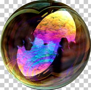 Bubble Time Soap Bubble Iridescence Reflection PNG